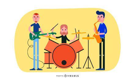 La tendencia de la música ilustración vectorial material 4