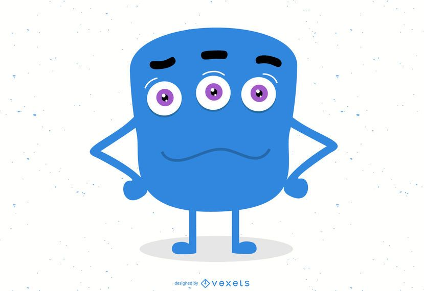 Monster Blue Icon Character