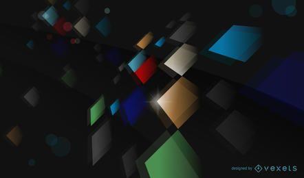 Fondo abstracto del vector del color con formas