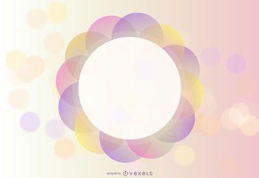 Abstrakter Farbvektor-Hintergrund mit Formen