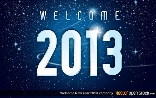 Bem-vindo 2013 ano novo