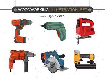 Conjunto de vetores de ferramentas elétricas