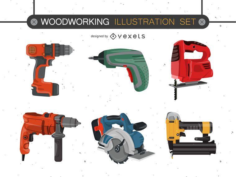 Conjunto de vectores de herramientas eléctricas