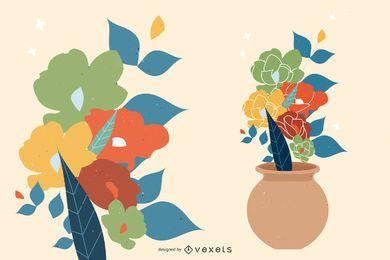 Arte floral libre del vector