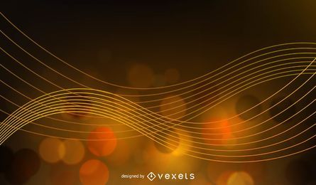 Abstract Golden Glow Background Vector Illustration