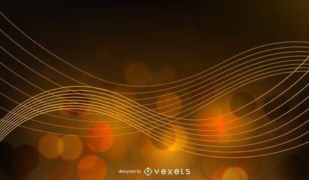 Abstrakte goldene Glühen-Hintergrund-Vektor-Illustration