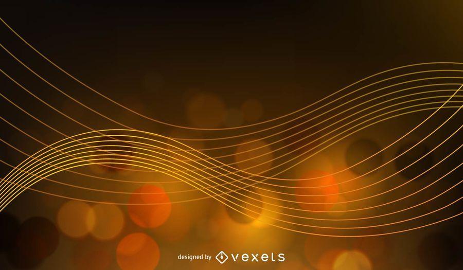 Fondo abstracto de oro resplandor ilustración vectorial