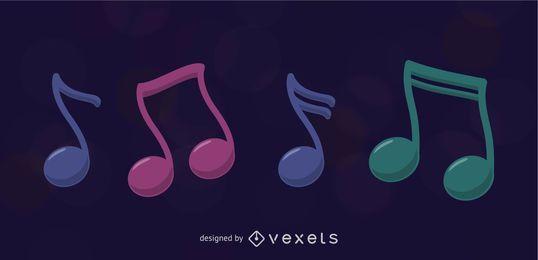 Ilustração vetorial de nota musical
