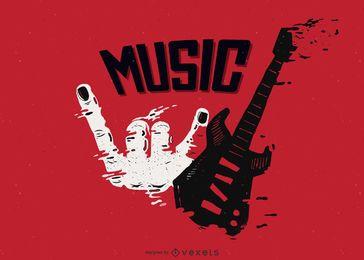 Tema musical vectorial de la tendencia del material.