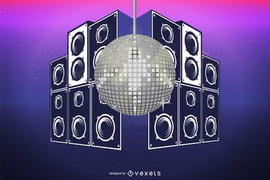 Design sujo de bola de discoteca