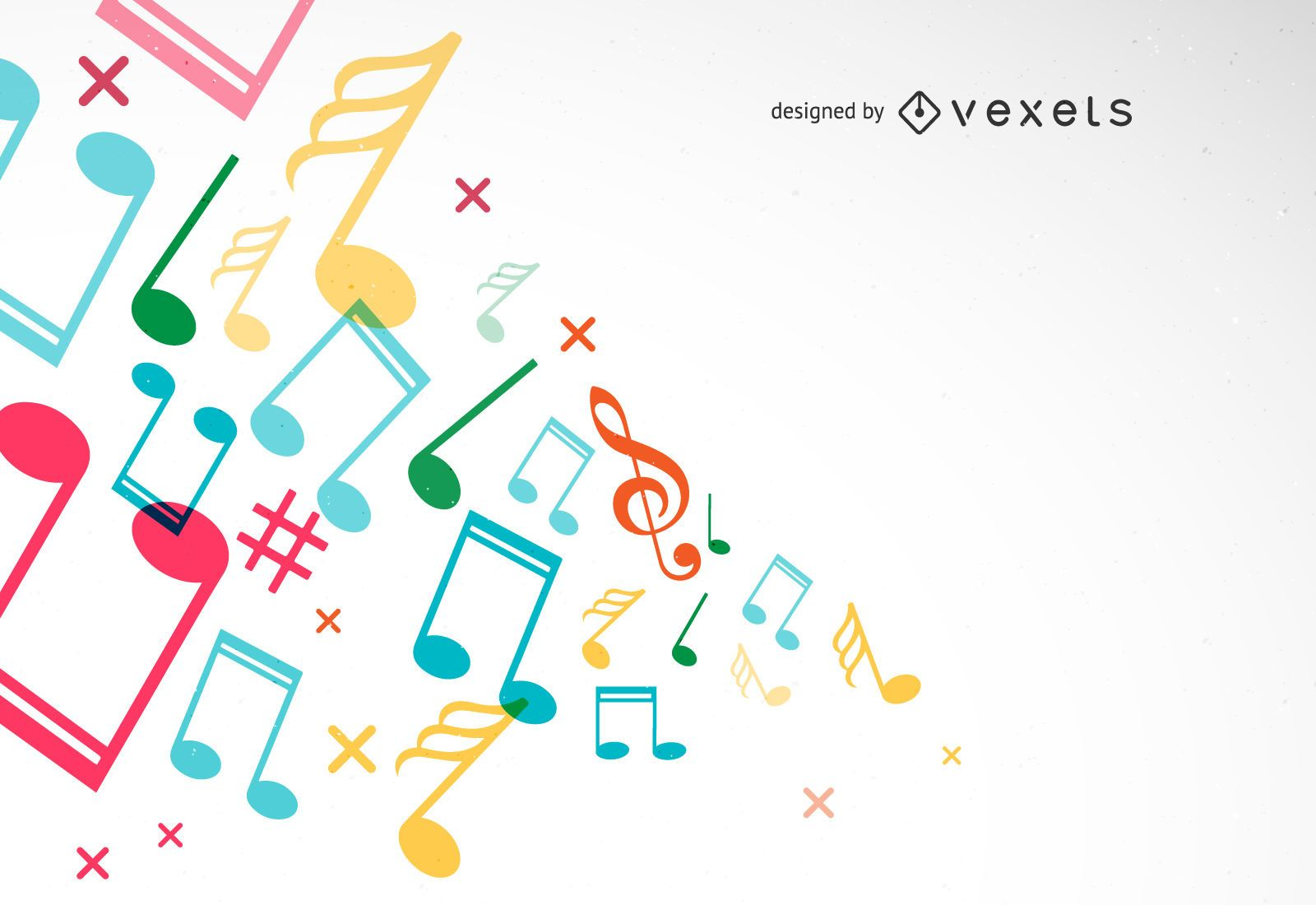 Background with Tunes Vector Illustration