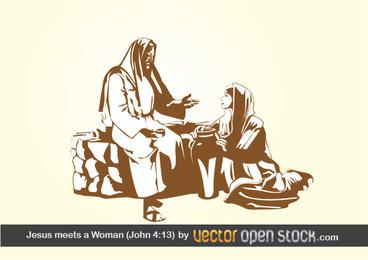 Jesús se encuentra con una mujer (juan 4:13)