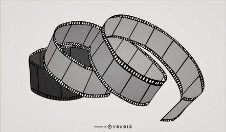 Tira de la película torcida - Vector de stock