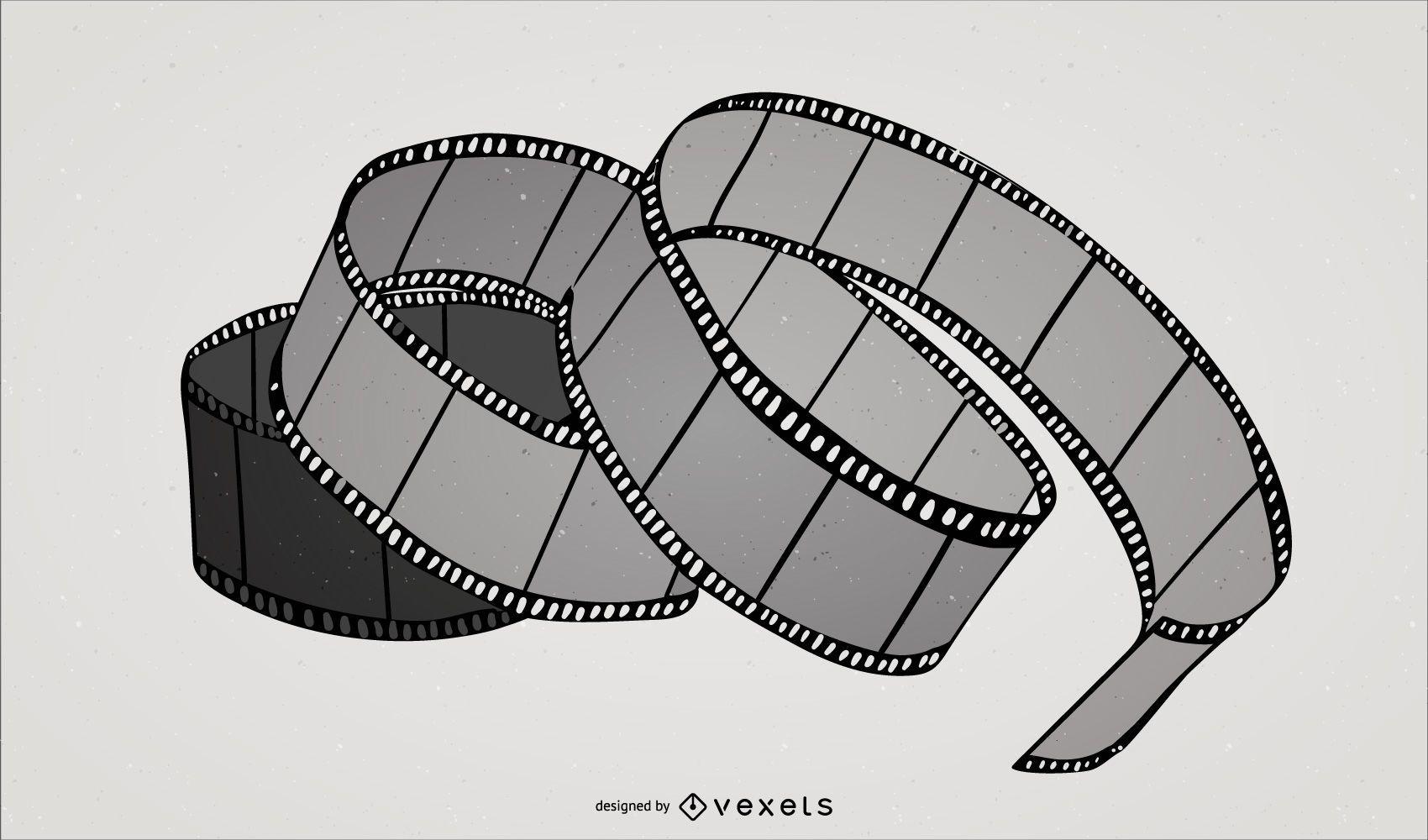 Twisted Film Strip - Stock Vectors