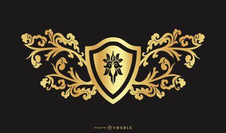 Elemento de design dourado 2