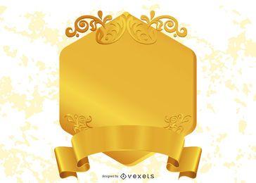 Elemento de design dourado 3