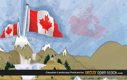 Cartão canadense da paisagem