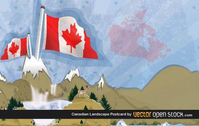 Cartão Postal Canadense com Paisagem