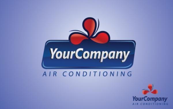 Plantilla de logotipo de aire acondicionado