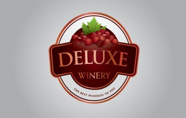 Deluxe Winery Business Logo