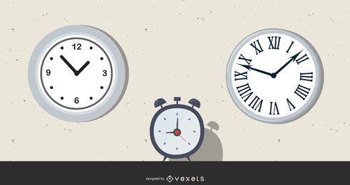 Reloj ilustraciones vectoriales