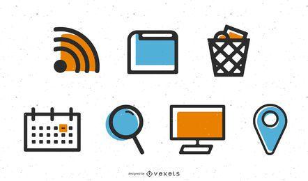 Pacote de ícones de vetor de área de trabalho