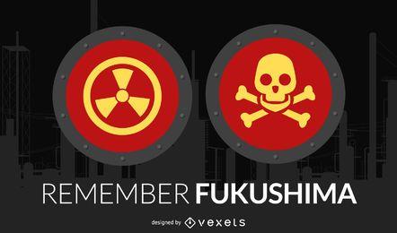 Vector de fukushima
