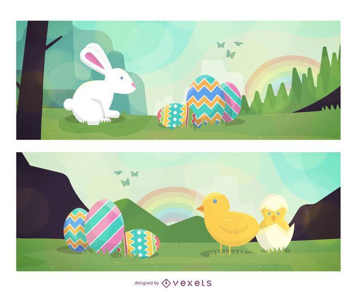 Vectores de Pascua de primavera