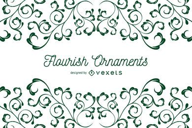 Flourish Ornaments background frame