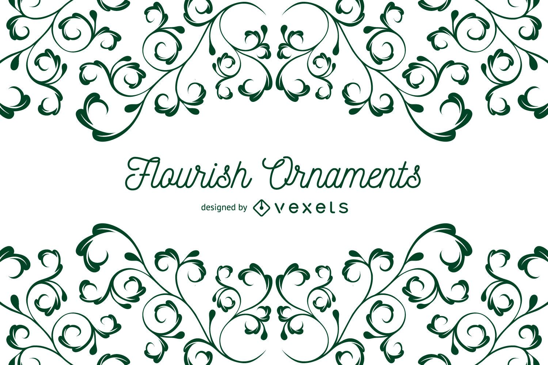 Flourish Ornaments background frame