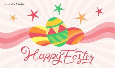 Cartão de Easter Eggcellent
