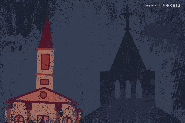 Diseño de iglesia Grunge