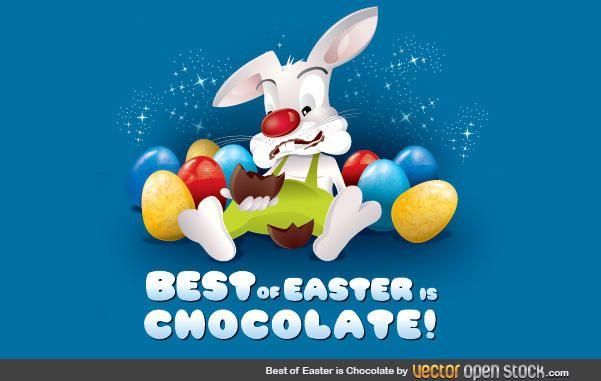 Conejito de Pascua de Chocolate
