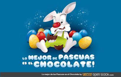 Chocolate Comendo Coelho