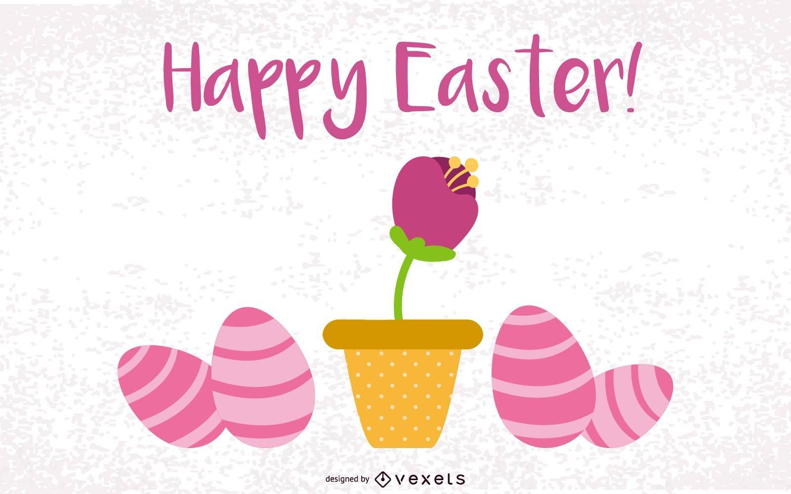 Conjunto de huevos de diseño de Pascua