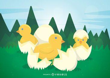 Pollos de pascua
