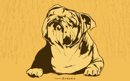 Ilustración de bulldog