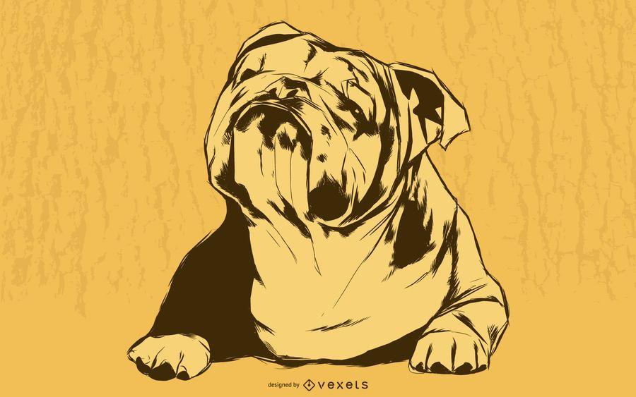 Bulldogge-Illustration