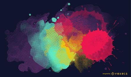 Ilustración de pintura salpicada
