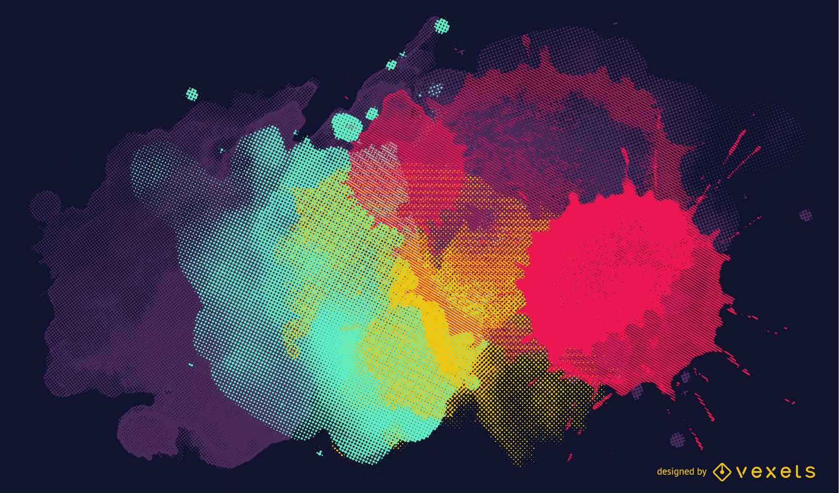Splashed paint illustration