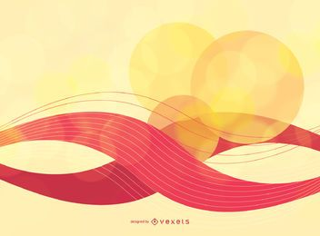 Fondo abstracto de arte vectorial