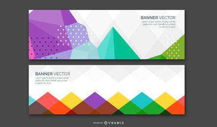 Banner abstrato conjunto de vetores