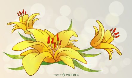 Lily ilustración vectorial