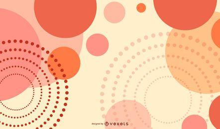 Fondo abstracto del vector con patrones circulares