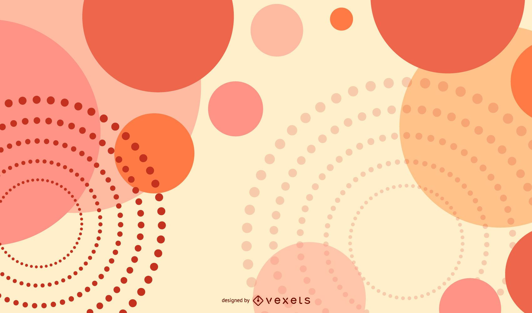 Abstract Vector Background With Circular Patterns
