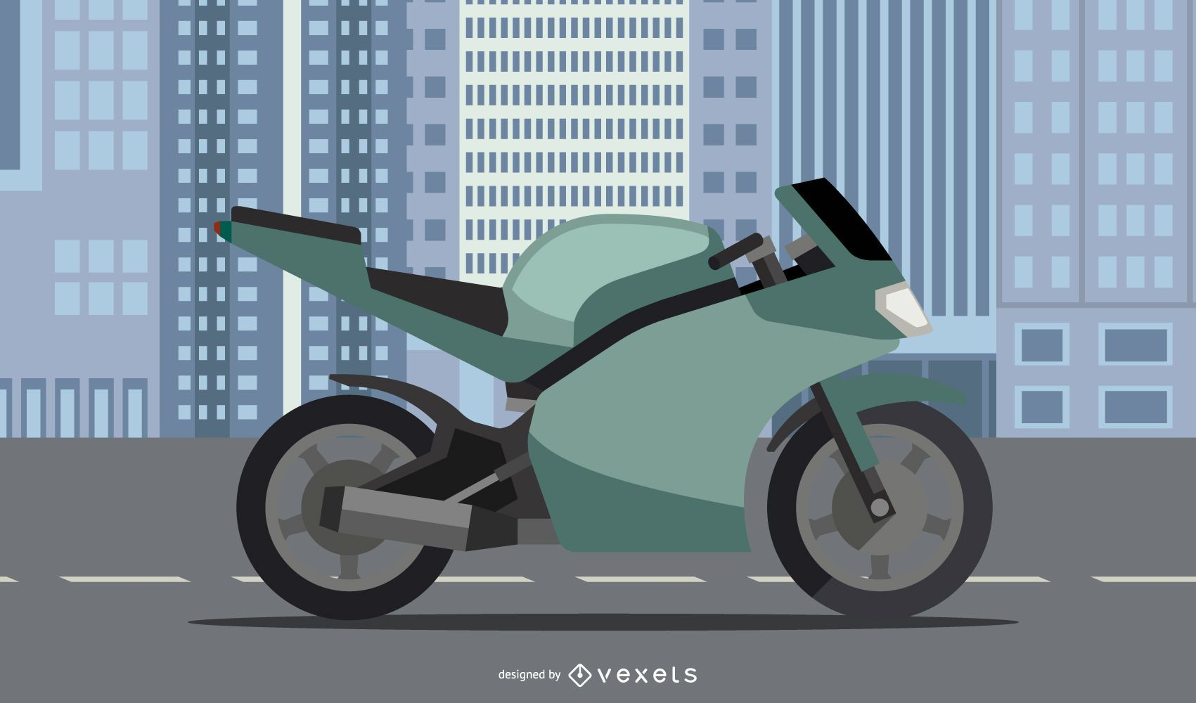 Vector de moto ducati diavel