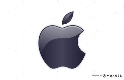 Vector de logotipo brillante de Apple