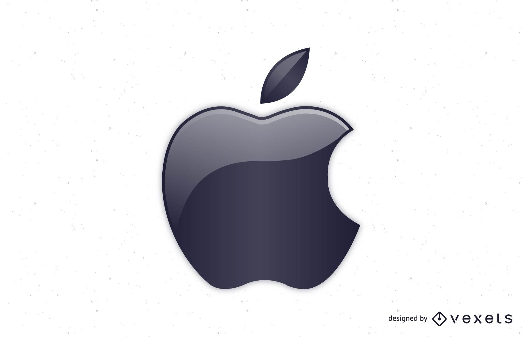 Apple Glossy Logo Vector