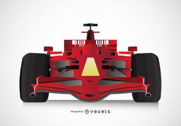 Ilustração de carro de Fórmula 1