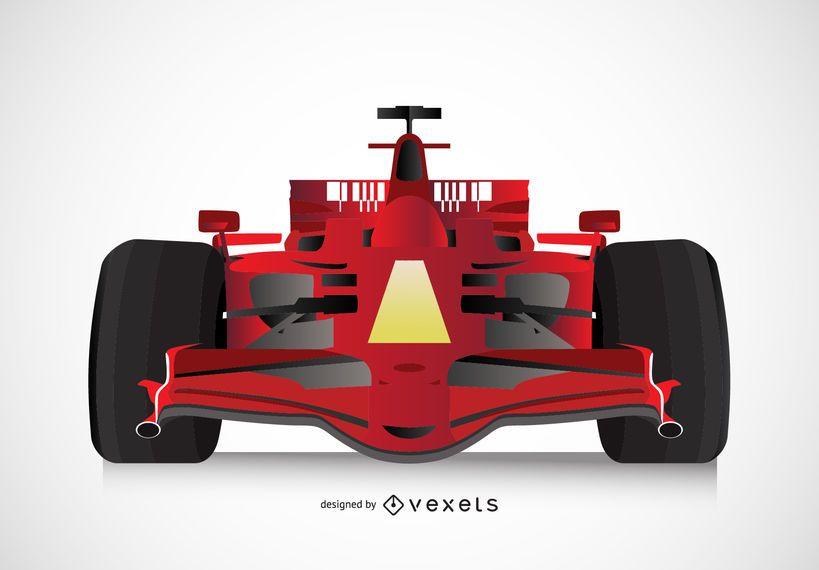 Ilustración de coche de fórmula 1